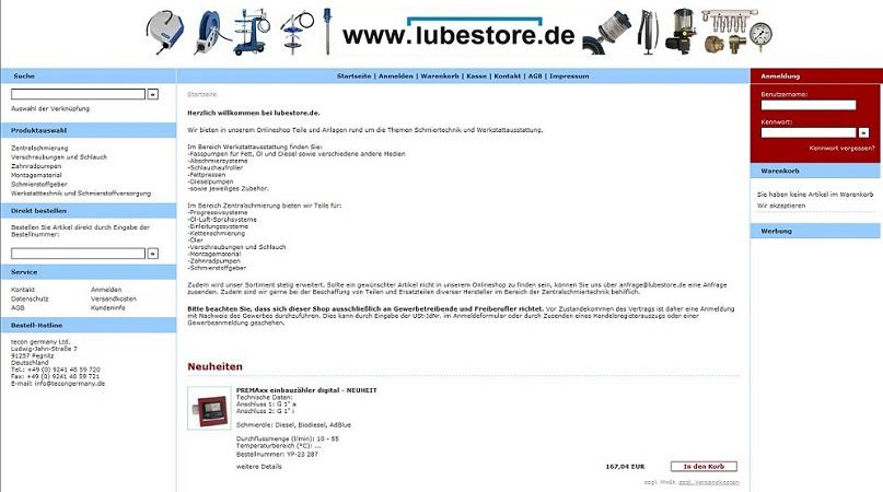 Link zum www.lubestore.de Onlineshop